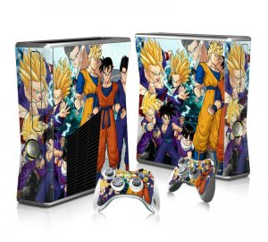 Xbox 360 slim dragon ball skin