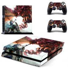 Fighting With The Huge Eagle Fantasy PS4 Skin Sticker Decal