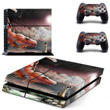 The Dragon And The Princess Fantasy PS4 Skin Sticker Decal