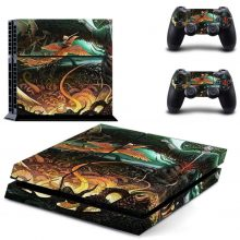 Child Rides On Phoenix Fantasy PS4 Skin Sticker Decal