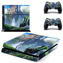 The Green Waterfall Valley Fantasy PS4 Skin Sticker Decal