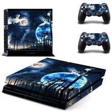 The Earth And The Moon Planet Fantasy PS4 Skin Sticker Decal