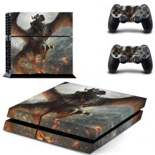 Knight Rides On The Eagle Fantasy PS4 Skin Sticker Decal