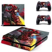 Red Dragon PS4 Skin Sticker Decal