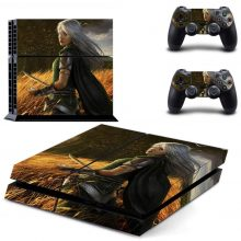 Hunter Girl In The Fields PS4 Skin Sticker Decal