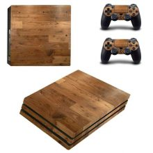 PS4 Pro Skin Wrap Sticker - Wooden Board