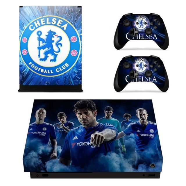 Chelsea Fc Skin Sticker For Xbox One X And Controllers Consoleskins Co