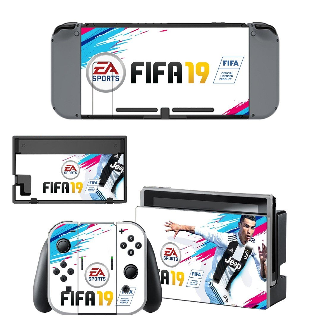 FIFA 19 Decal Skin Sticker for Nintendo Switch