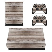 Wooden Baord Skin Sticker Decal for Xbox One X