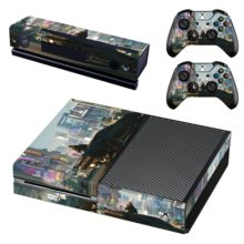 Xbox One And Controllers Skin Cover Cyberpunk 2077 Design 4