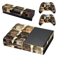 Xbox One And Controllers Skin Cover Tigers Face