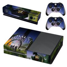 Xbox One And Controllers Skin Sticker - Halo Infinite
