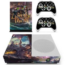 Xbox One S And Controllers Skin Sticker - Sea of Thieves