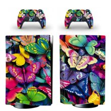 Colorful Butterflies PS5 Skin Sticker Decal