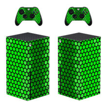 Green Cubes Skin Sticker Decal For Xbox Series X