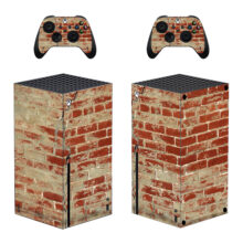 Red Old Bricks Skin Sticker Decal For Xbox Series X