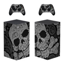 White Skull Skin Sticker Xbox Series X And Controllers