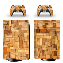 Wooden style PS5 Skin Sticker Decal For PlayStation 5