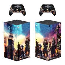 Kingdom Hearts Xbox Series X Skin Sticker Decal – Design 3
