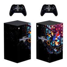 Kingdom Hearts Xbox Series X Skin Sticker Decal – Design 6