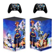 Kingdom Hearts Xbox Series X Skin Sticker Decal – Design 8