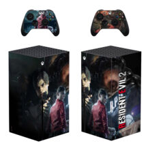 Resident Evil 2  Skin Sticker Decal For Xbox Series X- Design 1