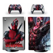 Deadpool PS5 Digital Edition Skin Sticker Decal Design 1
