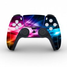Abstract Bright Colours Skin Sticker For PS5 Controllers