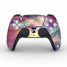 Milky Way Galaxy Pattern Skin Sticker Decal for PS5 Controllers