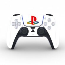 Plain White PlayStation Skin Sticker Decal for PS5 Controllers