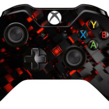 Black And Red Crystal Wallpaper Xbox One Controller Skin Sticker Decal