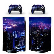 Yashima Night Aesthetic Anime City Wallpaper Skin Sticker Decal For PlayStation 5