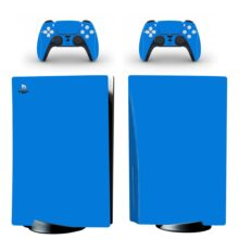 Pure Blue Color Wallpaper PS5 Skin Sticker For PlayStation 5 And Controllers