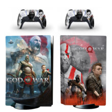 God Of War PS5 Skin Sticker For PlayStation 5 And Controllers Design 8