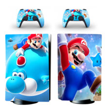 Mario Series PS5 Skin Sticker For PlayStation 5 And Controllers Design 1