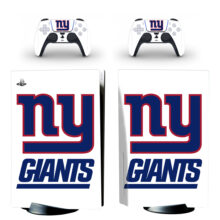 New York Giants Skin Sticker For PS5 Skin And Controllers