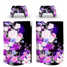 Flower Wallpaper PS5 Skin Sticker For PlayStation 5 And Controllers