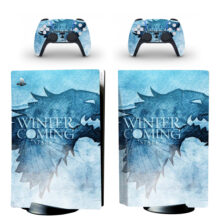 Winter Is Coming PS5 Skin Sticker Decal Design 1