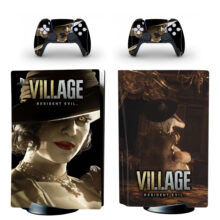 Resident Evil Village Skin Sticker For PS5 Skin And Controllers Design 2