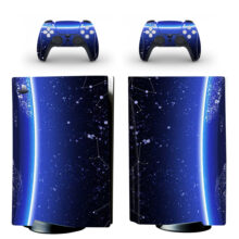 Starry Sky Blue Skin Sticker For PS5 Skin And Controllers