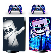 Marshmello American DJ PS5 Skin Sticker For PlayStation 5 And Controllers