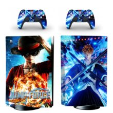 Jump Force PS5 Skin Sticker For PlayStation 5 And Controllers Design 4
