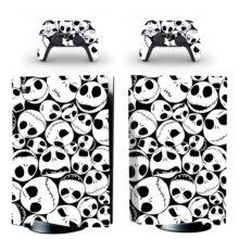 Skull Pattern Wallpaper PS5 Skin Sticker Decal