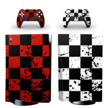 Chess Pattern Wallpaper PS5 Skin Sticker For PlayStation 5 And Controllers
