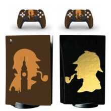 Sherlock Holmes PS5 Skin Sticker For PlayStation 5 And Controllers