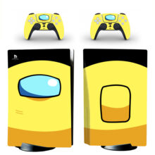 Yellow Among US Skin Sticker Decal For PlayStation 5