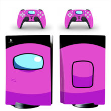 Pink Among Us PS5 Skin Sticker Decal