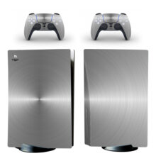 Silver Color Wallpaper PS5 Skin Sticker Decal