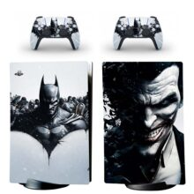 Joker And Bat Man Skin Sticker Decal For PS5 Digital Edition And Controllers