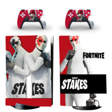Fortnite High Stakes Skin Sticker Decal For PS5 Digital Edition